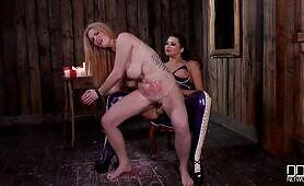 [DDFNetwork] (Extra busty sub slut Tasha Holz gets straponed by mean mistress Anna Polina)