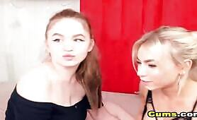 Lesbian Teens Pussy Licking at Live Cam Action