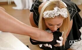 [DDFNetwork] (Submissive housemaid Lindsey Olsen gets spanked by mean Euro babe Zafira)