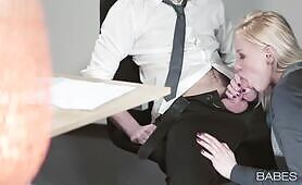 [Babes] (Fucktastic Russian office whore Lola Taylor fucks her nerdy workmate)
