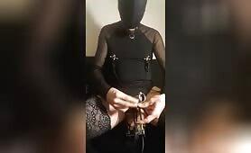 Kinky maso slut remote e-stim session June 3, 2021, part 2