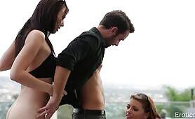 [EroticaX] (Irresistible babes Aidra Fox and Adriana Chechik share lucky member)
