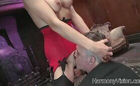 [HarmonyVision] (Gentleman pays a visit to fake boobed damsel Franki Rider)