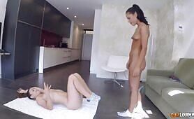 [CumLouder] (Hot Latina girlfriends Apolonia and Julia practice yoga naked)