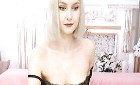 Foxy Maldovian Blonde Displays Perky Breasts