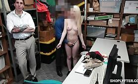 [Shoplyfter] Joseline Kelly  (Miserable guy watches pervy security guy fucking his hot GF Joseline Kelly)