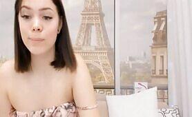 Brunette Exposes Her Beautiful Petals