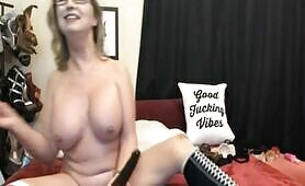 Amazing Blonde MILF Naughty Cam Show