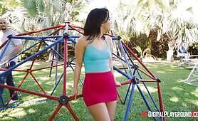 [Digital playground] Amara Romani (Horny Brunette Teen Fucked On A Playground)
