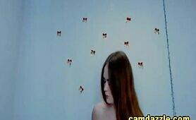 Blue Eyed Brunette Open Wide On Webcam Show