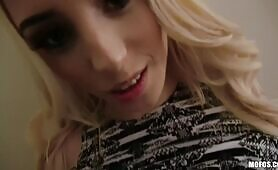 (Spying On A Hot Blondie Pays Off Huge As She Spreads Her Legs)