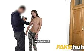 [Fakehub] Cindy Shine (Fake Agent Petite pussy cute ass babe Cindy Shine on casting couch)