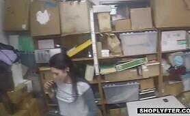 [Shoplyfter] Megan Sage (Tattooed Junkie Shoplifter Satisfies Two Horny Cops To Get Away)