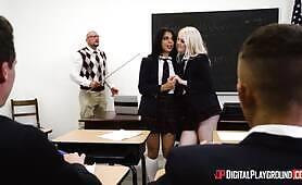 [Digital Playground]  Gina Valentina, Lily Rader (Horny Schoolgirl Deserves To Be Punished For Her Misbehavior)